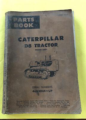 Vintage Caterpillar D8 Tractor Power Shift Bulldozer Parts Book Catalog