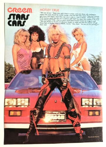 MOTLEY CRUE / VINCE NEIL / MAGAZINE FULL PAGE PINUP POSTER CLIPPING (4)