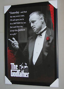 The Godfather Framed Poster SOMEDAY Black Wooden and glass Ready to hang MARLON