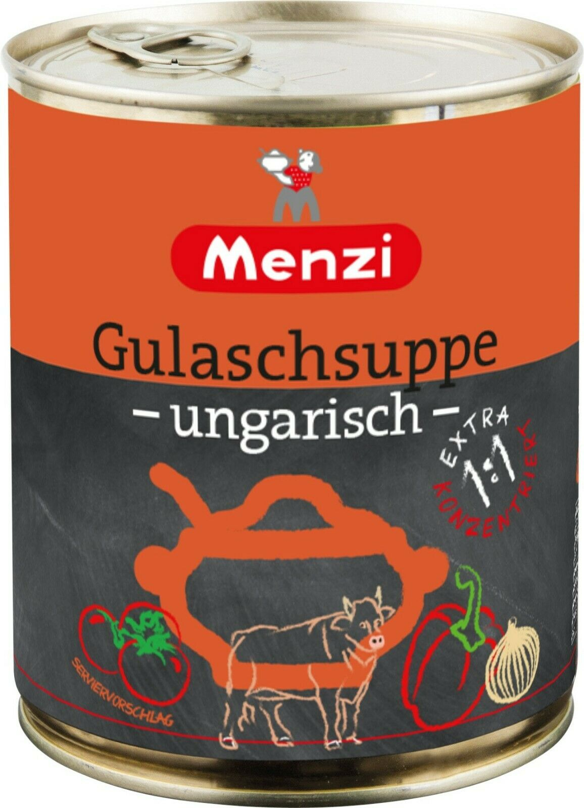 (1L=9,99€) Menzi Ungarische Gulaschsuppe Extra - konzentriert - 800 ml