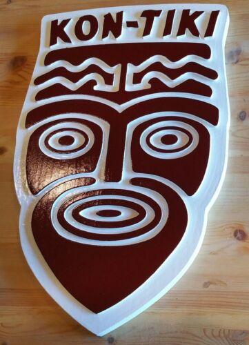 Kon Tiki Sign 3D routed carved Island Beach wood pub Tiki Bar Custom Carved