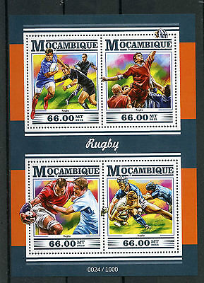 Mozambique 2015 MNH Rugby 4v M/S Sports Stamps
