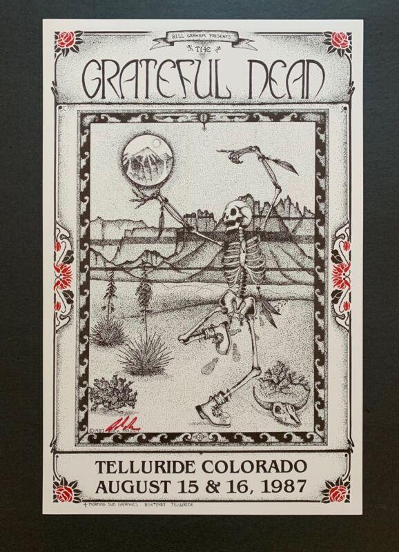 Grateful Dead Original 1987  Concert Poster Telluride Colorado Signed