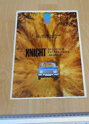 Wartburg Kinght Saloon & Estate Cars Mark 4 Sales Leaflet