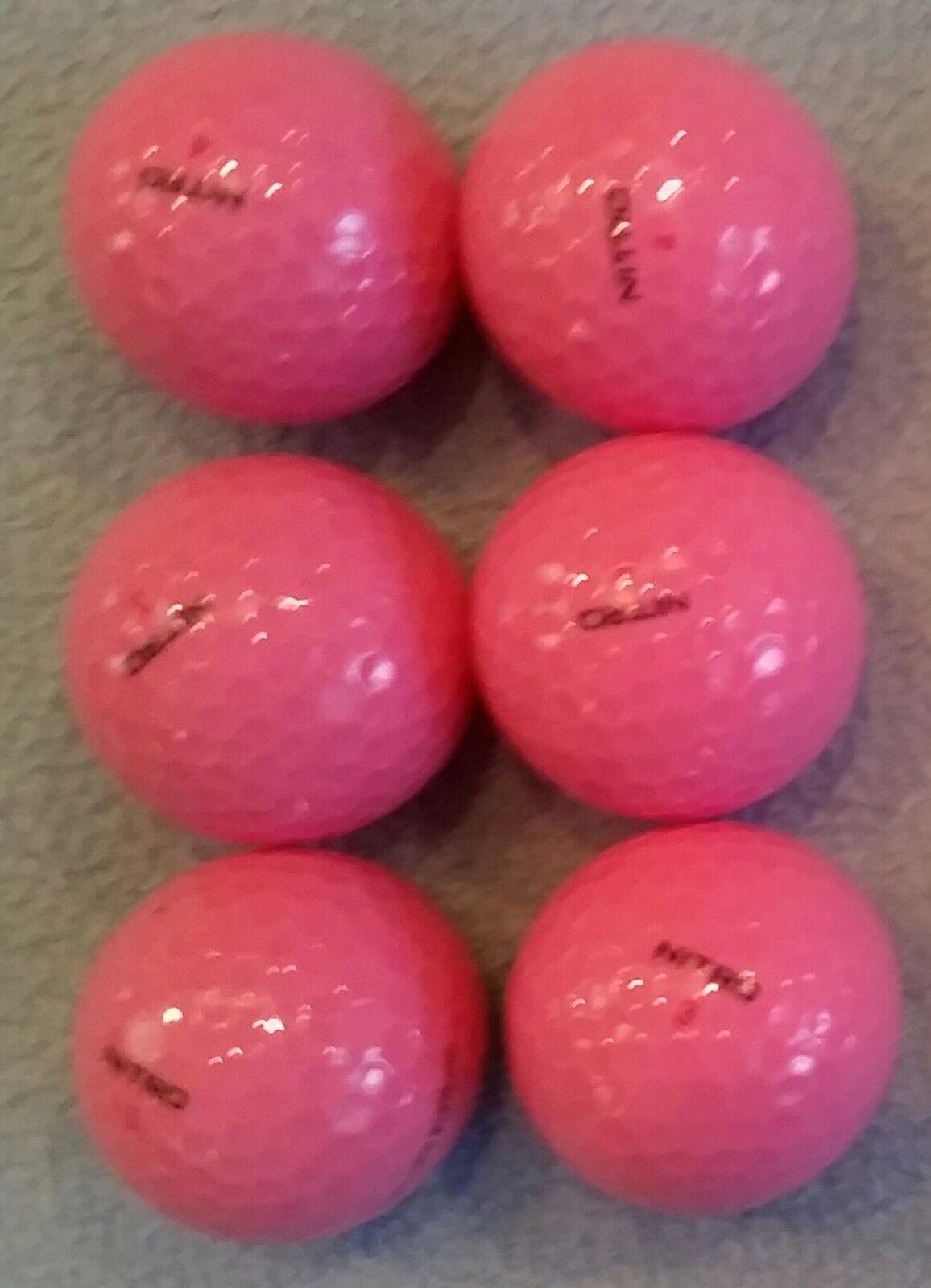 6 pink ultimate distance golf balls 2