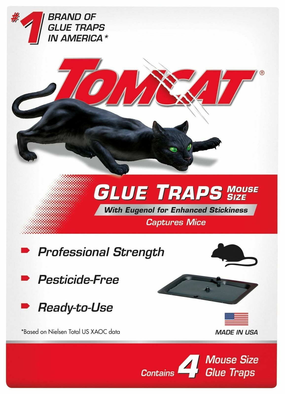 Tomcat Mouse Glue Trap W/Eugenol 4 PK Animal & Rodent Control