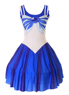 SK-03 Gr. S-M Sailor Moon Merkur blau Kleid - Sailor Merkur Kostüme