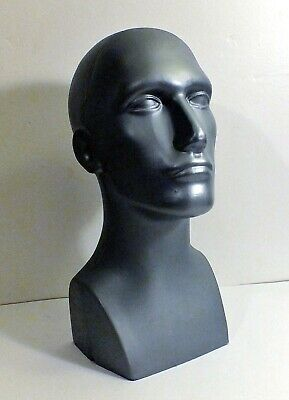 Young Male Plastic Mannequin Grey Head Display 15 Tall Approx. Full Size