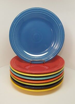 Fiestaware mixed colors Dinner Plate Lot of 8 Fiesta 10.5 inch plates 8C1M3