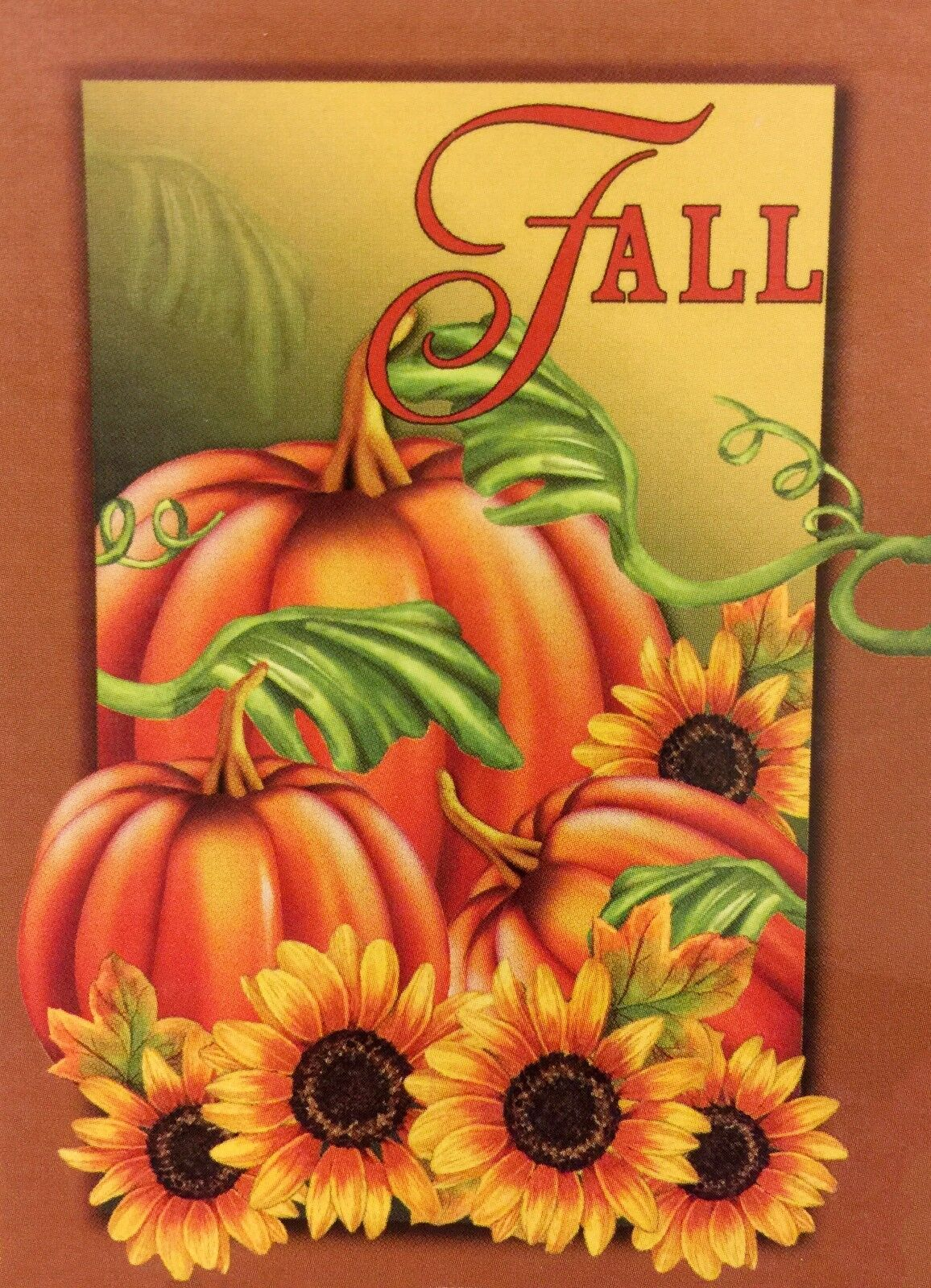 """NEW Fall Pumpkins & Sunflowers Garden Flag 12""""X18"""" Decorativ"""