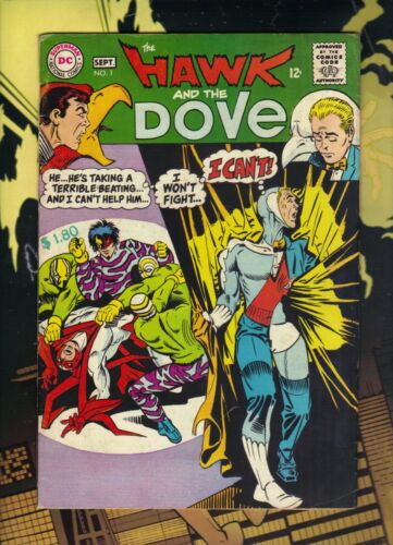 The Hawk and the Dove #1 and #2 VG - DC 1968 - Jailbreak! Ditko Art!