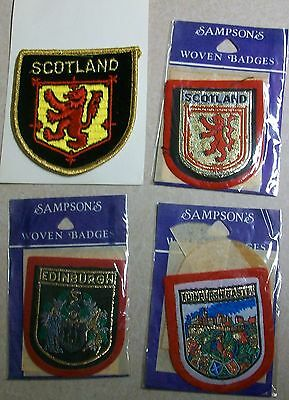 Edinburgh Castle Sampson's Woven Scotland Crest Souvenirs Badge Patch Lot New