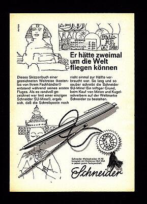 3w2654/ Alte Reklame von 1968 - SCHNEIDER Weltmine