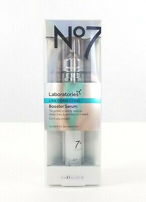 NEW No7 Laboratories Line Correcting Booster Serum 0.5 OZ Boots NEW IN BOX Fresh