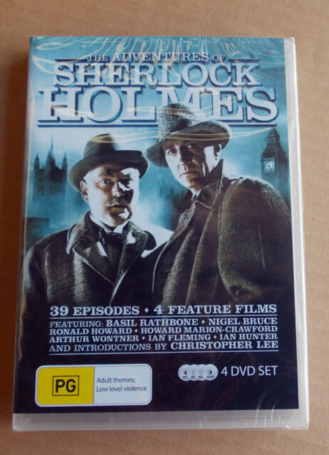 The Adventures of Sherlock Holmes 4 DVD Set 4 Feature Films & 39 episode series