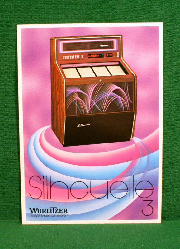 Original Wurlitzer Silhouette 3 Jukebox Brochure