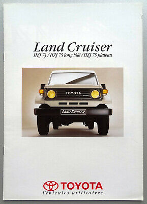 V15494 TOYOTA LAND CRUISER 'HZJ' - CATALOGUE - 1995 - A4 - FR FR