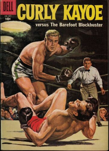 CURLY KAYOE SPORTS/ BOXING  FOUR-COLOR..#871 1958 DELL ...VF