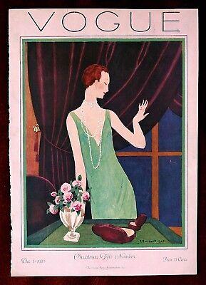 Vogue Magazine Original Cover Only ~ December 1, 1925 ~ Brissaud