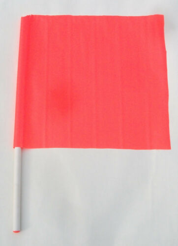 """Flag Caution Safety Construction Traffic Boat Skier Down, 18"""" X 18"""", 27"""" Handle"""