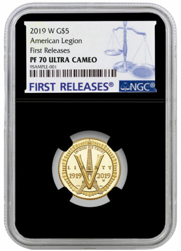2019 W American Legion 100th $5 Gold Commem NGC PF70 UC FR Black Core SKU57436