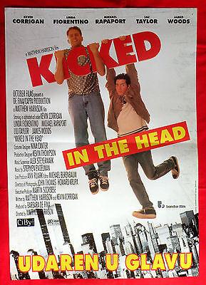 KICKED IN THE HEAD 1997 KEVIN CORRIGAN LINDA FIORENTINO SERBIAN MOVIE POSTER