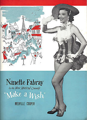 "Nanette Fabray ""MAKE A WISH"" Helen Gallagher / Gower Champion 1951 Program"