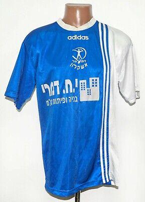 HAPOEL ASHKELON ISRAEL MATCH WORN RESERVE 1997/1998 HOME FOOTBALL SHIRT #8 L image