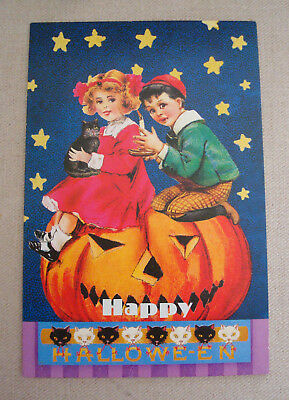 Punch Studio 8 Happy HALLOWEEN Blank Note Cards JOL Pumpkin Unused