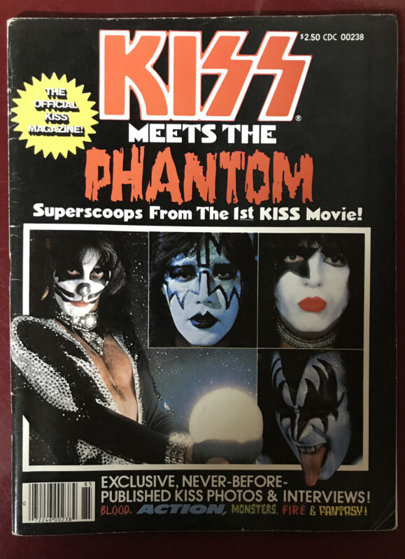 KISS Meets The Phantom Movie Magazine Aucoin Vintage Rare Nice