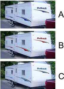 Rv decal kit travel trailer graphics keystone outback stickers camper USA made