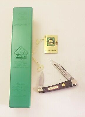 "VINTAGE 1977 PUMA 835 ""JUNIOR"" POCKET KNIFE NEW IN BOX W/ PAPERS: GERMANY"