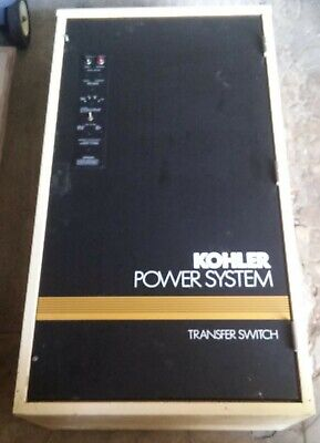Kohler 30-4000 Amp Series S340 Automatic Generator Transfer Switch W Manual