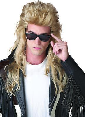 80'S Rock Mullet Blonde Wig Adult Men - Rock Mullet