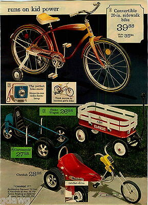 1974 Paper Ad Pedal Vehicle Tractor Trailer Sno Mobile Gartoncycle Cheetah Stake