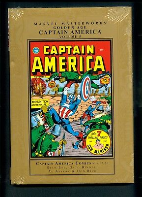 Marvel Masterworks Golden Age Captain America Vol. 5 Factory Sealed C2 Stan Lee