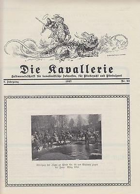 Die Kavallerie 1927 Heft 23 - Zeitschrift für Kavallerie, Pferdezucht und -sport