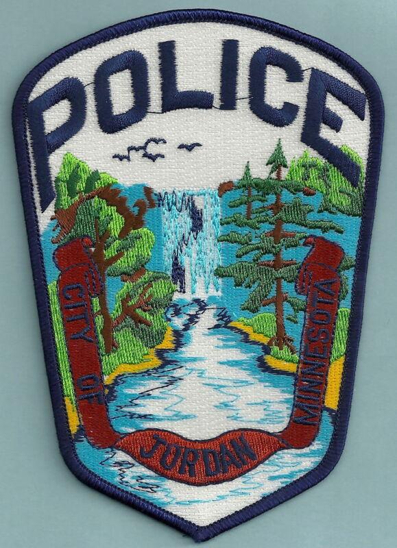 JORDAN MINNESOTA POLICE SHOULDER PATCH BEAUTIFUL WATERFALL!