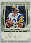 Kurt Warner Signed Card