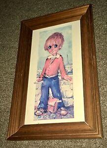 Vintage 1970s Michel T Big Eye Kid Print Shepparton Shepparton City Preview