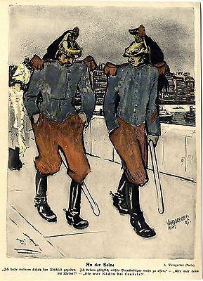 An der Seine Albert Weisgerber Paris Kunstdruck 1905