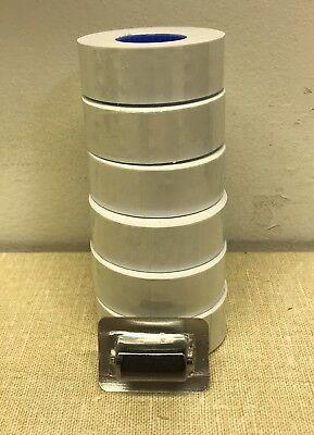 Garvey Labels For Price Gun 22-6 22-7 22-8 White 6 Rolls 1 Ink Roll