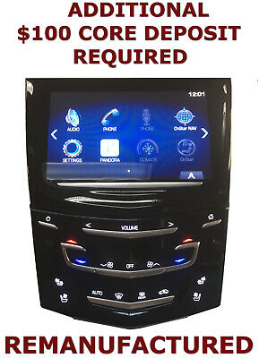 REMAN Cadillac SRX CUE Radio Touch Screen w/ Heated Cooled Vent Seat 13 14 15 16