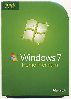 NEW SEALED BOX Microsoft Windows 7 Home Premium Upgrade 32 & 64 Bit DVDs