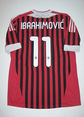 2011-2012 Adidas AC Milan Zlatan Ibrahimovic Jersey Calcio Maglia Kit Shirt