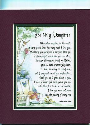 A Birthday Graduation Gift Present Poem For A Daughter #47