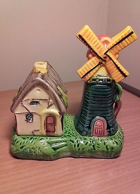 Vintage windmill and cottage salt and pepper