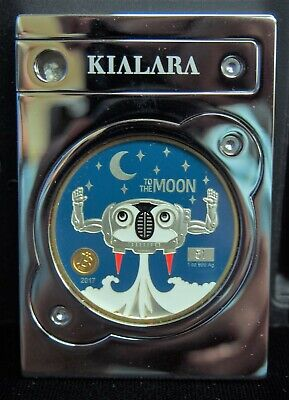 2017 Kialara To The Moon Silver Edition Physical Crypto Wallet Only 250 Made!