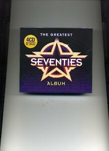 THE GREATEST SEVENTIES ALBUM - ABBA FACES MUD CHIC CHICAGO BREAD - 4 CDS - NEW!!