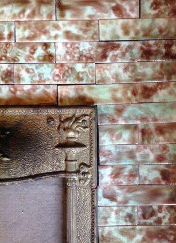 Complete Set Vintage Victorian Antique Fireplace Tile Tiles Mantle Cambridge